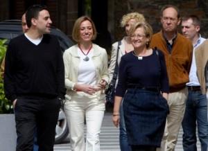 La ministra, con distintos cargos socialistas.