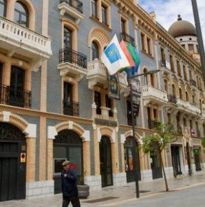 Sede de la Diputación en el Hotel Paris. (Foto: Julián Pérez)