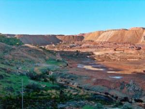 Paisaje minero en la provincia de Huelva.