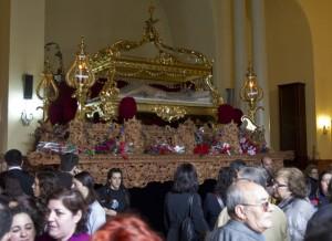 El Santo Entierro también se quedó sin salida procesional. (Julián Pérez).