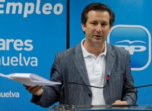 El alcalde de Gibraleón, Gómez Cueli. (Julián Pérez)
