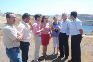 Imagen de archivo de responsables del PP en una visita a Minas de Riotinto.