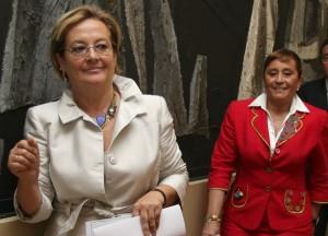 Petronila Guerrero y María Luisa Faneca.