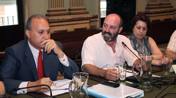 Pedro Jiménez (IU) interviene en el pleno celebrado hoy. (Foto: Daniel Vázquez)