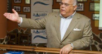 Arnold Moreno, durante la presentación del nuevo proyecto de Aqualon. (Julián Pérez)