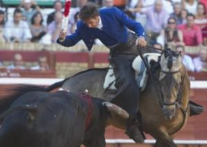Hermoso de Mendoza fue el único que se fue de vacío en la tarde en la cuarta de Colombinas. (Julián Pérez).