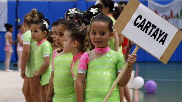 Alumnos de las escuelas deportivas municipales de Cartaya.