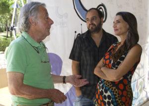 Ángela Molina, acompañada del director del Festival de Islantilla y de José Luis Ruiz, fundador del Festival de Cine de Huelva. (Julián Pérez)
