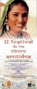 Cartel anunciador del Festival de los Cinco Sentidos.