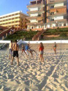 El voley playa, un clásico en Matalascañas.