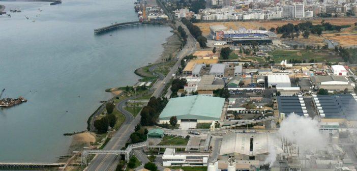 Imagen aérea de las fábricas de la avenida Francisco Montenegro. (Rodolfo Barón)
