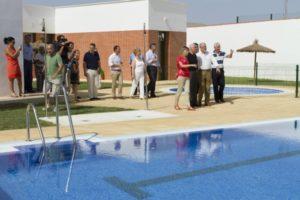 Inauguración de la piscina de San Silvestre.