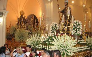 San Roque, en procesión.