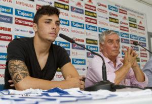 Ximo Navarro, nuevo futbolista del Recreativo de Huelva. (Julián Pérez)