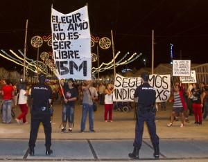 Las protestas del Movimiento 15-M tuvieron una escasa respuesta. (Julián Pérez).