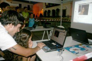 Un momento del desarrollo de la Semana Joven en Cartaya.
