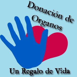 Cartel para llamar a la donación de órganos.