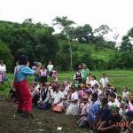 Ayuda humanitaria a niños nicaragüenses.