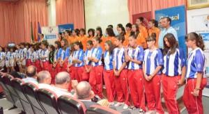 Presentación oficial de los diferentes equipos del Cajasol Sporting.