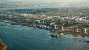 Imagen aérea del Puerto exterior en Palos de la Frontera. (Rodolfo Barón)