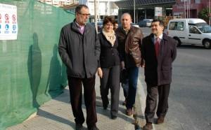 José Oria y Fátima Aburto -izquierda-, dos de los que se afirma no repetirán el 20-N, junto al concejal Benabat y a un fijo en el número uno de la lista al Congreso, Javier Barrero.