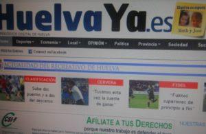 Portada HuelvaYa.es.