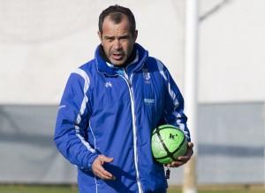 Álvaro Cervera, técnico del Recreativo de Huelva. (J. Pérez)
