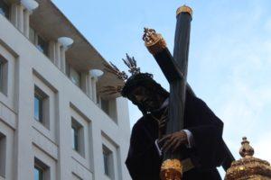El Nazareno en la Placeta en la mañana del Viernes Santo. (Celia HK)