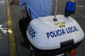 Una de las motos que utilizan los policías locales de Huelva.