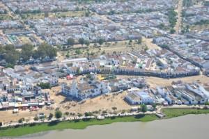 Vista aérea de la aldea del Rocío.