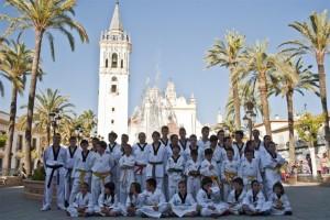 Exhibición de taekwondo del Club Kuroi de La Palma del Condado.