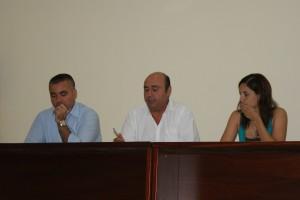 Manuel Morales, en la Asamblea de Socios del PAN Moguer.