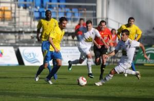 Partido de liga de la temporada 10/11 entre el Cádiz y el San Roque.