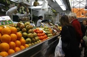 El Mercado del Carmen a plena actividad.