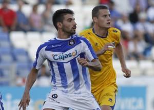 Chuli, autor de tres goles ante el Alcorcón. (J. Pérez)