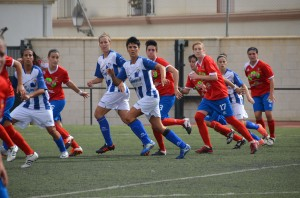 Partido esta temporada del Cajasol Sporting Universidad.