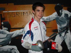 Mario Artero, tirador onubense de esgrima.