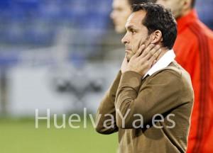 Sergi Barjuan, técnico del Recreativo de Huelva. (J. Pérez)