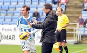 Sergi Barjuan, entrenador del Recreativo. (Espínola)