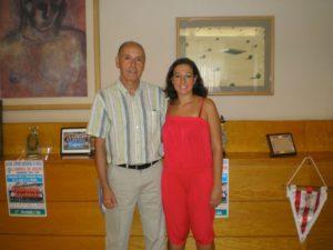 Manoli Romero, nueva presidenta del Cajasol Sporting, junto a Anotnio Toledo.
