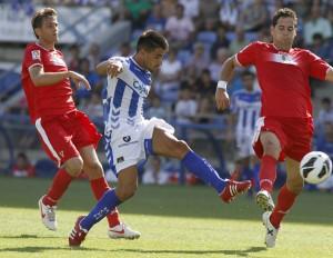Chuli, en el partido ante el Murcia. (J. Pérez)