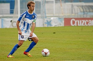 Jorge Merino, autor de dos goles para el Recre B. (Celia HK)