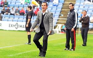 Sergi Barjuan, técnico del Recreativo de Huelva. (Espínola)