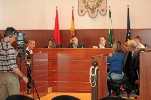 Pleno municipal de La Palma en el que se aprobó la medida.