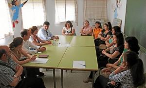 Gabriel Cruz en colegio Tres Carabelas.