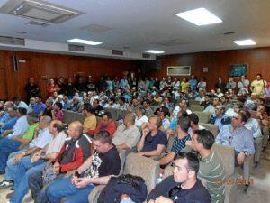 Asamblea de trabajadores.