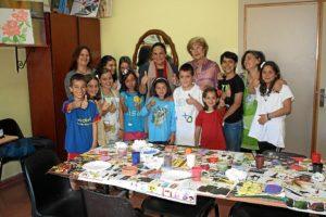 Participantes en una de las aulas creativas, en El Molino de la Vega.