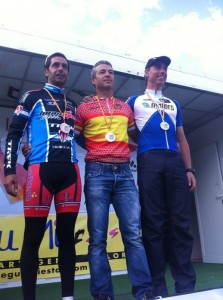 Bomberos de Huelva en el Campeonato de España de ciclismo.