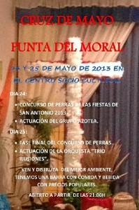 Cartel de la Cruz de Mayo en Punta del Moral.