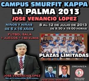 Cartel Campus fútbol sala en La Palma del Condado.